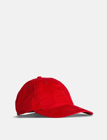 Norse Projects Baby-Corduroy Sport Cap - Askja Red