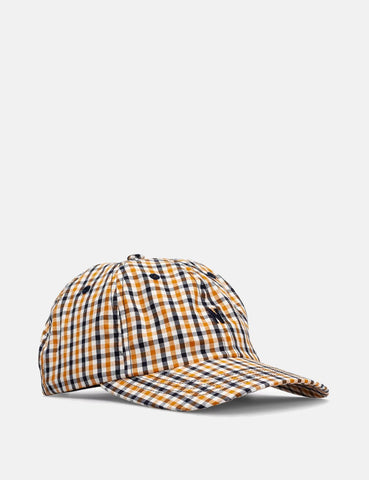 Norse Projects Gingham Sport Cap - Sunwashed Gelb