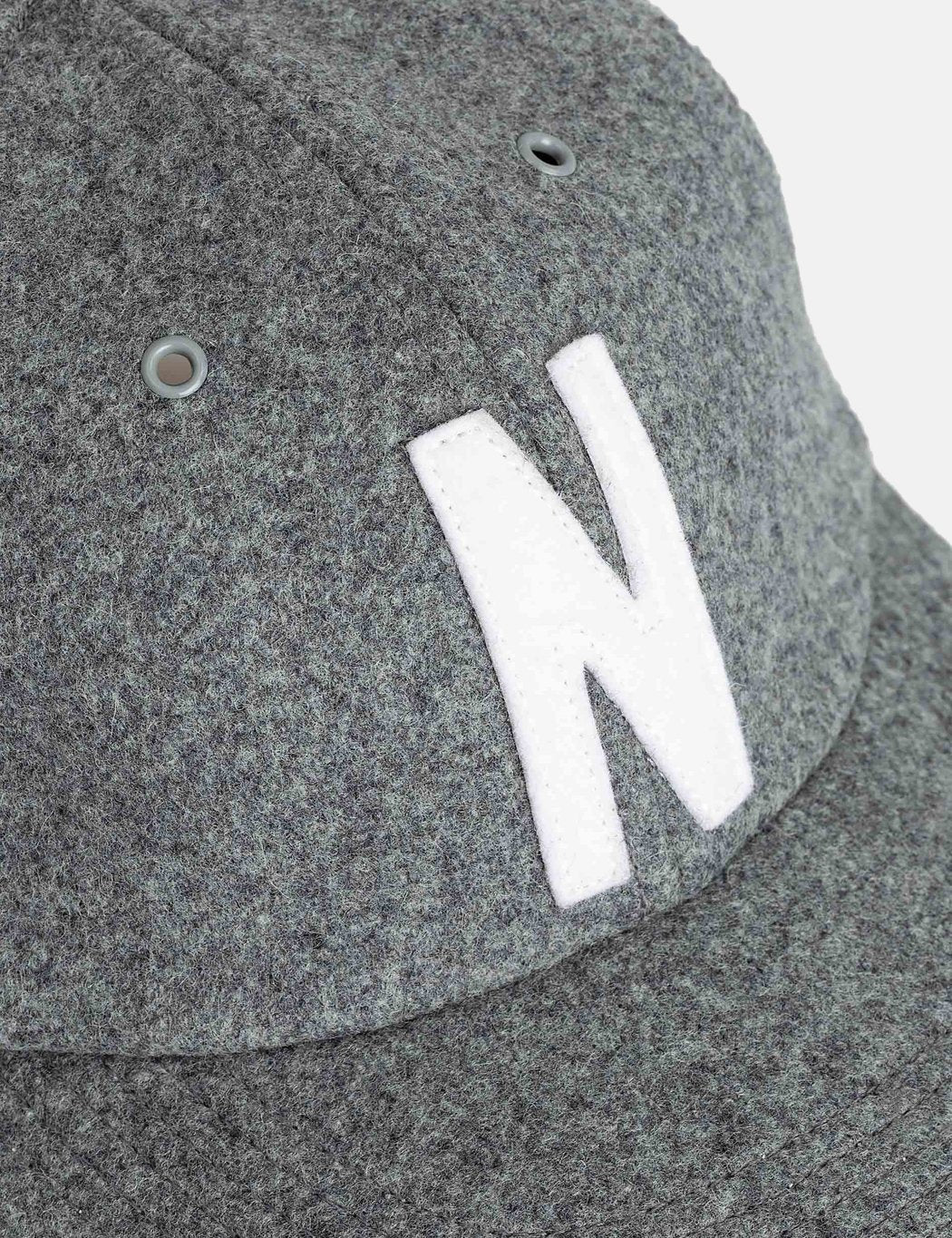 Norse Projects Wolle Sport Cap - Light Grey Melange