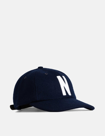 Norse Projects Wolle Sport Cap - Dark Navy Blau