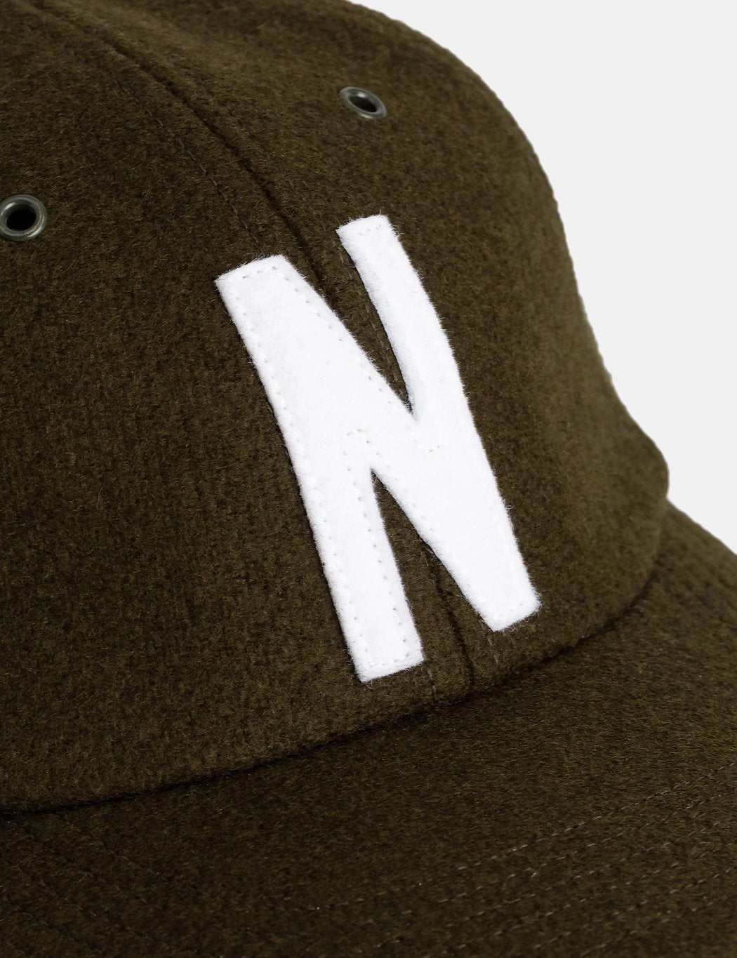 Norse Projects Wolle Sport Cap - Buche Grün