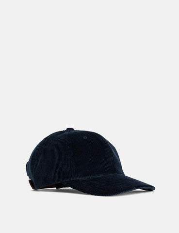Norse Projects Weit Wale Cord Sport Cap - Ensign Blau