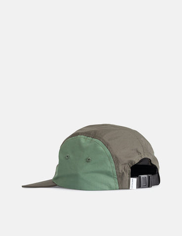 Norse Projects Nylon 4 Panel Cap - Buche Grün