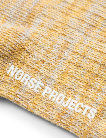 Norse Projects Haddi Mischung Socken - Sunwashed Gelb