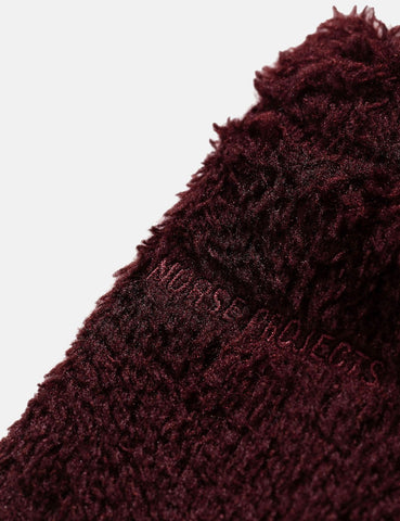 Norse Projects Fleece Neck Warmer - Mulberry Red