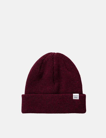 Norse Projects 'nordischen' Strickmütze Brushed (Lambswool) - Mulberry Burgund