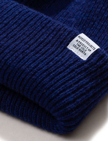 Norse Projects 'nordischen' Strickmütze Brushed (Lambswool) - Dämmerung Blue