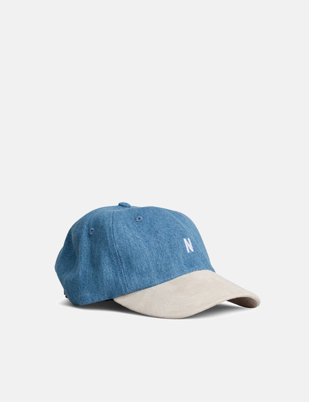 Norse Projects Denim Sports Cap - Sunwashed Blue