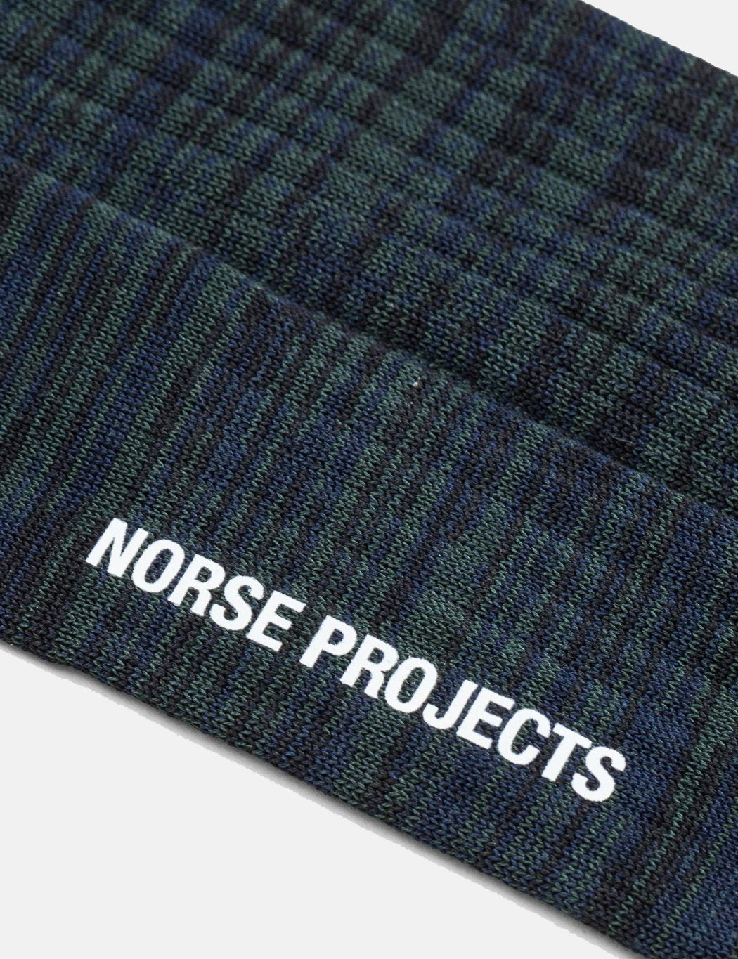 Norse Projects Bjarki Mercerized Twist Socken - Dark Navy