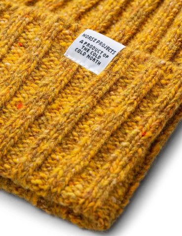 Norse Projects Neps Strickmütze (Lambswool) - Senf-Gelb