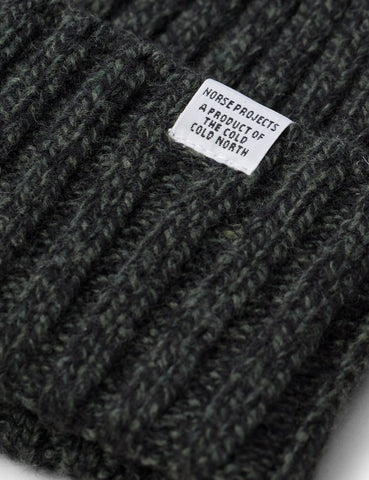 Norse Projects Weit Rib Beanie Hat - Spinnaker Grün