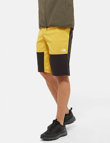 North Face Climb Shorts - Bambus Gelb