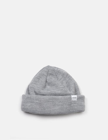 Parlez Flat Beanie - Grey Heather
