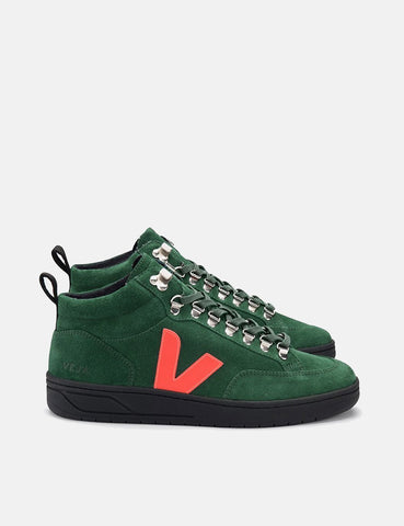 Veja Roraima Turnschuhe aus Wildleder - Cypress / orange Fluo