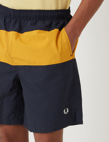Fred Perry Panelled Badeshorts - Navy