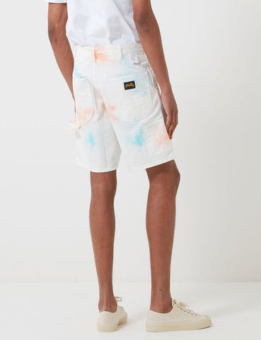 Stan Ray 80er Painter Short - Coral / Parrott Tye Dye