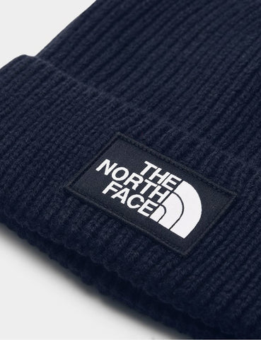 North Face Logo Box Cuff Beanie Hat - Urban Marineblau