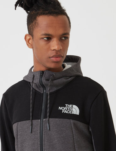 North Face Leichte Full Zip Kapuzen-Sweatshirt - TNF Mittelgrau
