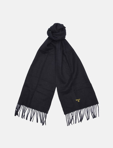 Barbour Plain Lambswool Schal - Schwarz