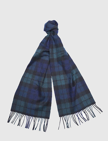 Barbour New Check Tartan Scarf - Black Watch