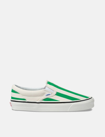 Vans Classic Slip-On 98 DX (Canvas) - Weiß / OG Smaragd / Big Stripes