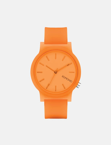 Komono Mono Watch - Neon Orange Glow