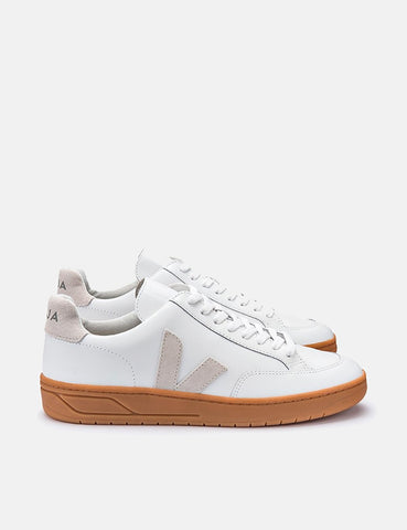 Veja V-12 Lederturnschuhe - Extra White / Natural Sole