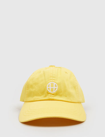 HUF Circle H Curved Peak Cap - Light Yellow