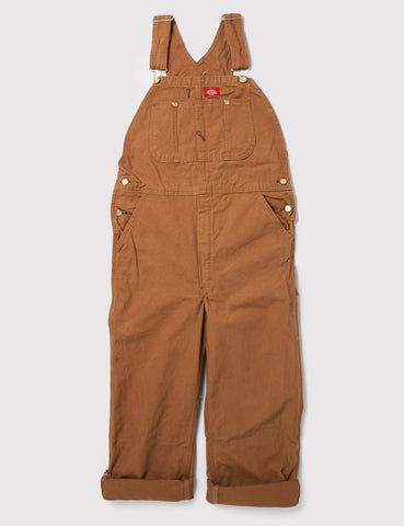 Dickies Latzhose - Rinsed Brown