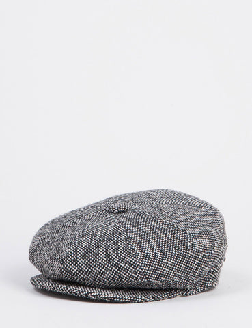 Bailey Galvin Tweed Newsboy Hut - Schwarz Tweed