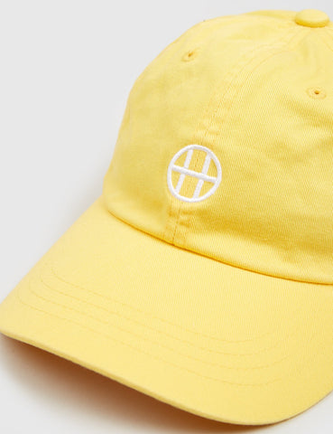 HUF Circle H Curved Peak Cap - Baby Yellow