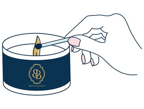 Enjoy your luxurious candle subscription from Britten and Baileys