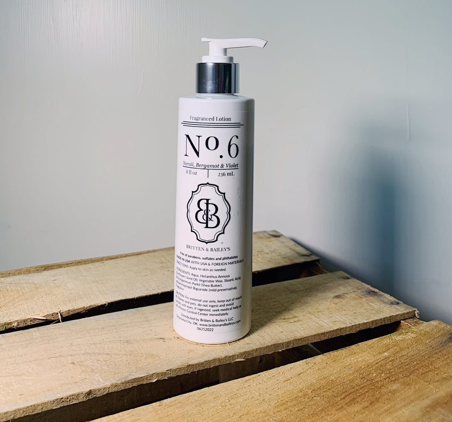 Neroli Bergamot and violet lotion