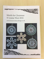 Five motifs for Christmas, bobbin lace patterns