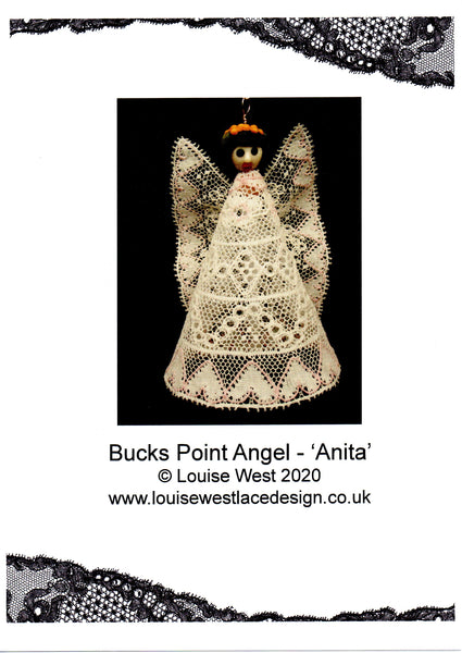 "Bucks Point Bobbin lace angel pattern ""Anita"""