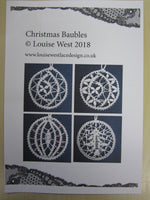 Bedfordshire Christmas baubles pattern