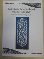Bedfordshire swim inspired bookmark