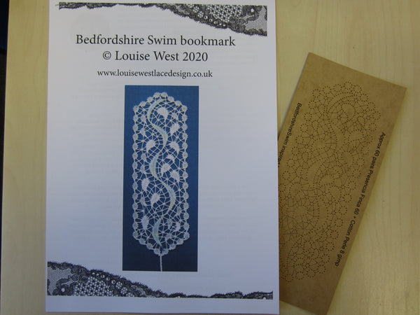 RTW Bedfordshire Swim inspired bookmark