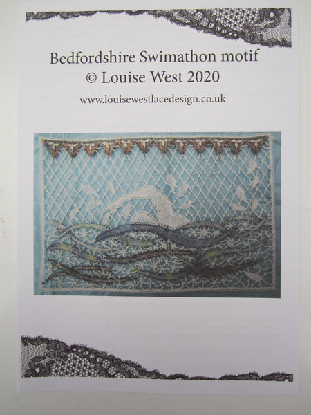 Bedfordshire Swimming motif pattern sheet