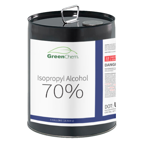 GreenChem Isopropyl Alcohol 70% (IPA) | Technical Grade Pure Rubbing Alcohol for Cleaning & Mixing 70 Percent - Buygreenchem