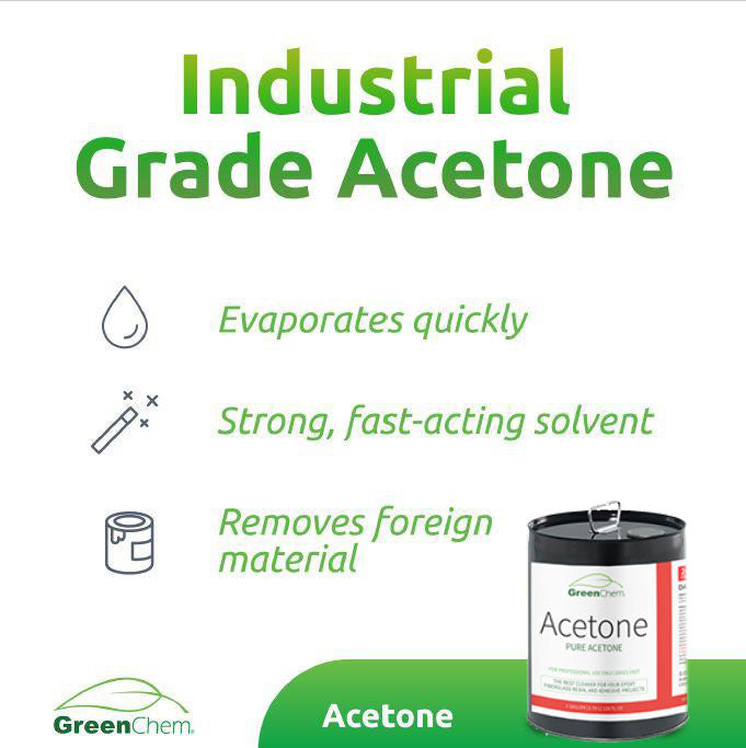 ACETONE 99.7% | Fast Drying Solvent for Thinner and Cleaner - Buygreenchem
