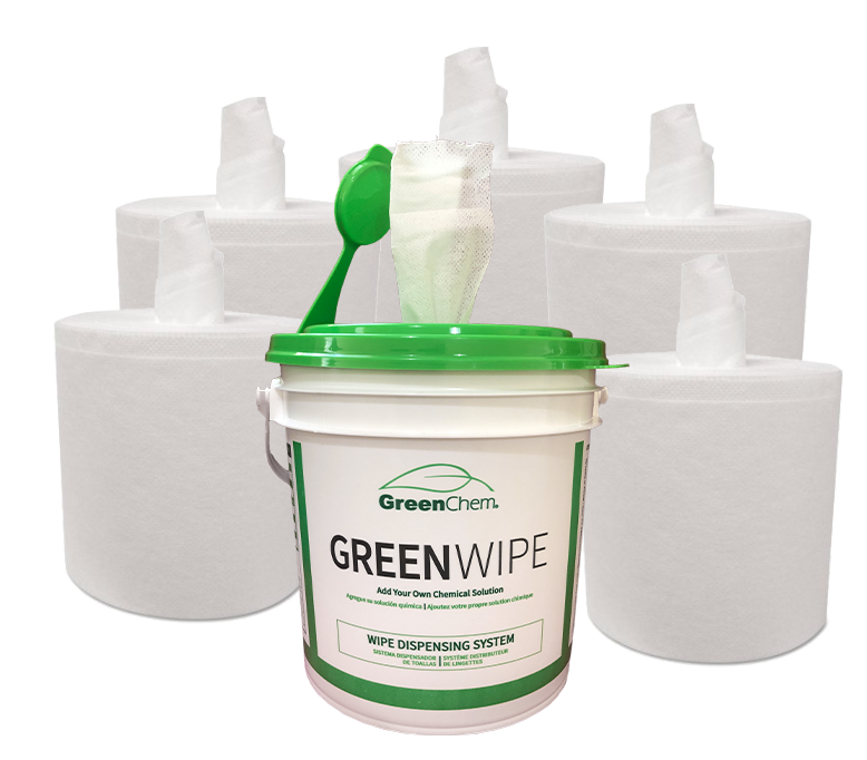 "GreenWipe| DRY Wipe System for Solvents 6"" x 12"" x 180 - Buygreenchem"