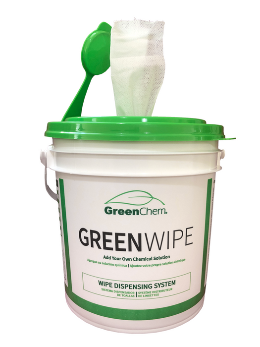 "GreenWipe| DRY Wipe System for Solvents 6"" x 12"" x 180 Sheets - Buygreenchem"