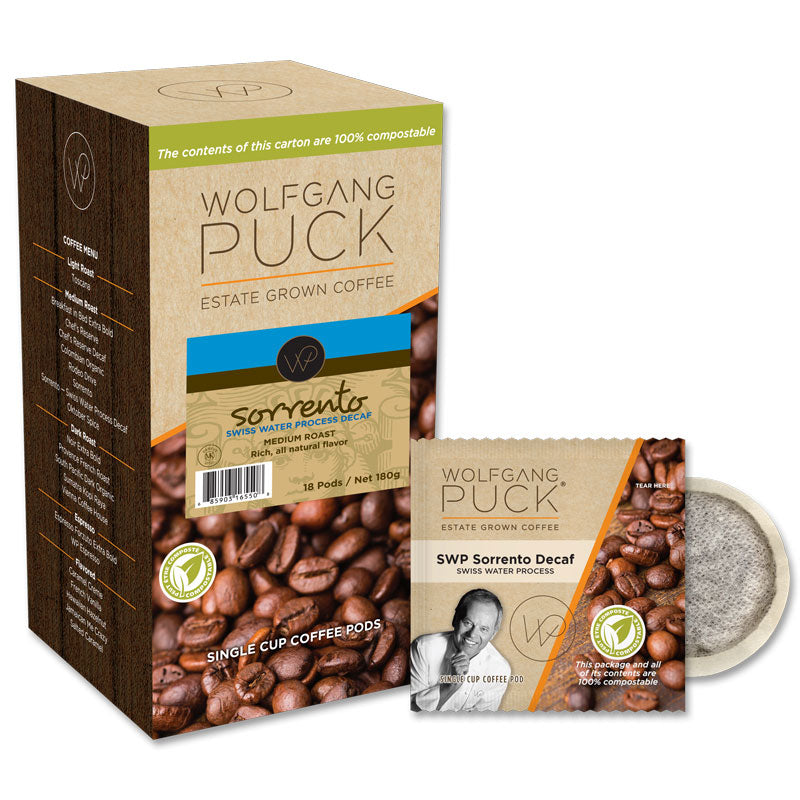Wolfgang Puck Sorrento SWP Decaf Coffee Pods