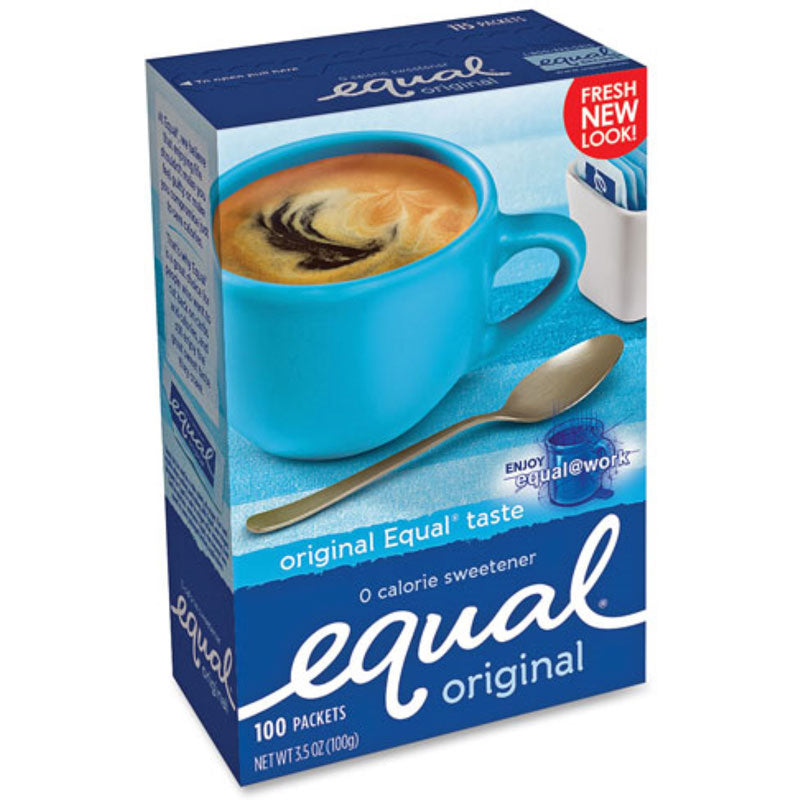Equal Zero Calorie Sweetener Packets, 100 count