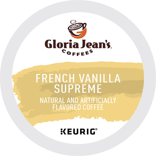 French Vanilla Supreme Coffee, K-Cup, Flavored, Medium Roast | Gloria Jean's® Coffee