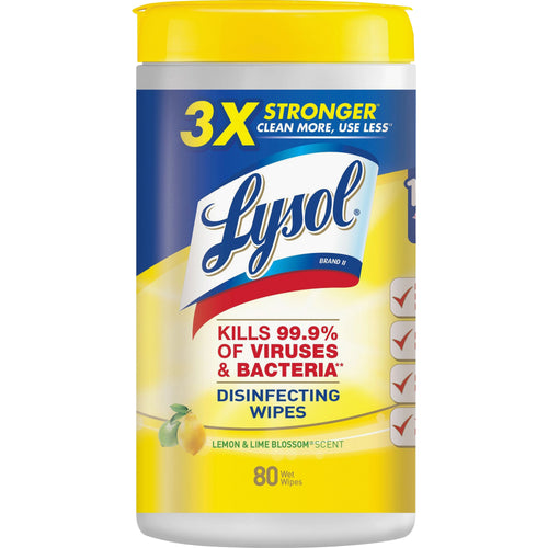 Lysol Disinfecting Wipes, Lemon Lime Scent 80ct