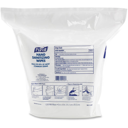 PURELL Sanitizing Wipes Refill 1200ct