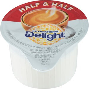 International Delight  Half & Half Singles  - 180/Carton