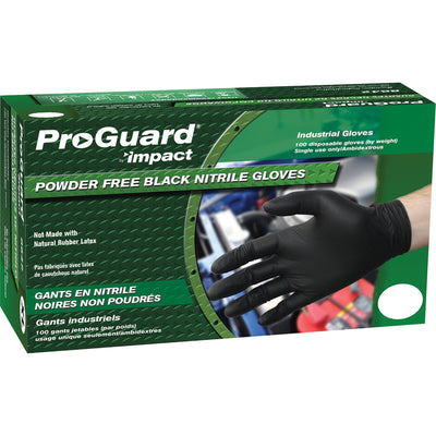 ProGuard Small Nitrile Black Gloves 100/box 8642